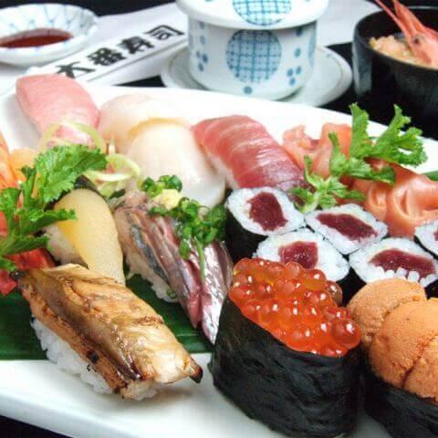 新宿 寿司 歌舞伎町 寿司 大番ぶるまいセット 寿司盛り合わせ