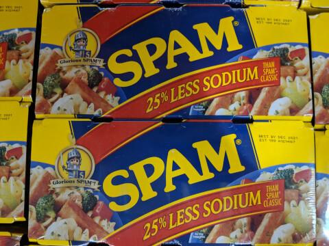 スパムレスソルト(減塩スパム)Hormel SPAM SOLTランチョンミート 340g×6缶 梱2.2kg