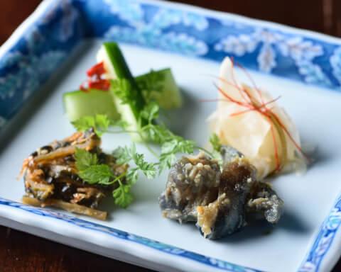 恵比寿 ディナー 和食 炭火道場 漬物盛り合わせ