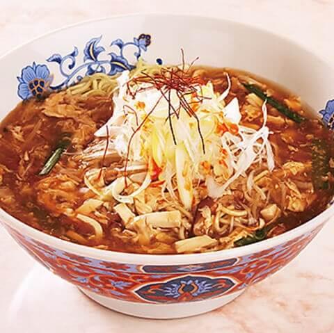 新中国家庭料理 浅野 東京 おすすめ 酸辣湯麺 六本木