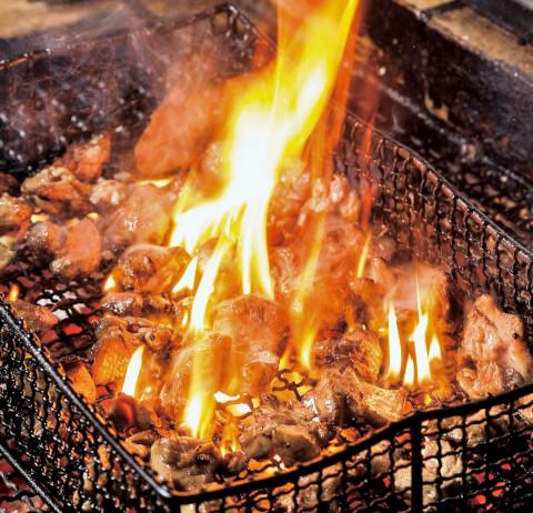 秋葉原 居酒屋 炉端料理かこいや 伊達鶏のすす焼き