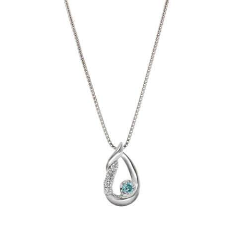 テイクアップ アイスブルーダイヤモンドヒネリしずくネックレス ホワイトデー プレゼント
