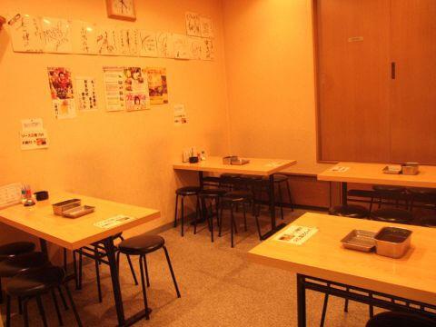 田町 居酒屋 たけちゃん 串揚げ どて焼き テーブル席