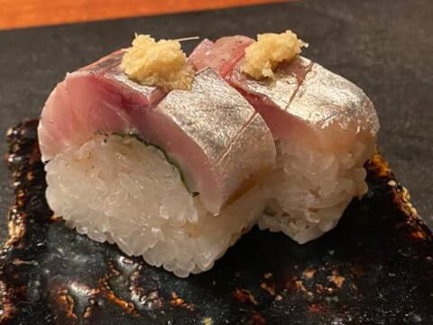 TAKEMOTO 渋谷 居酒屋 鯖の棒寿司