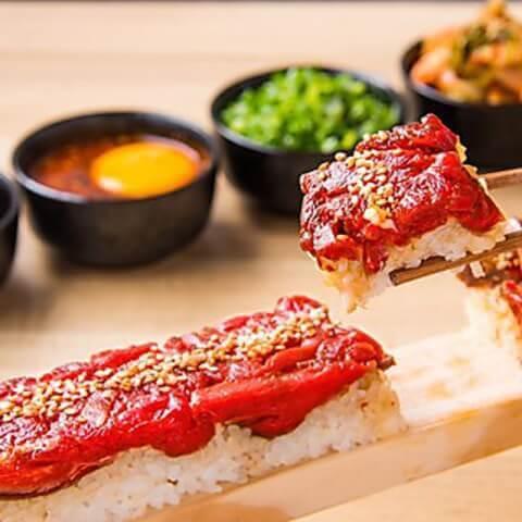 名古屋 名駅 居酒屋 個室 くずし割烹たてがみ ロングユッケ寿司