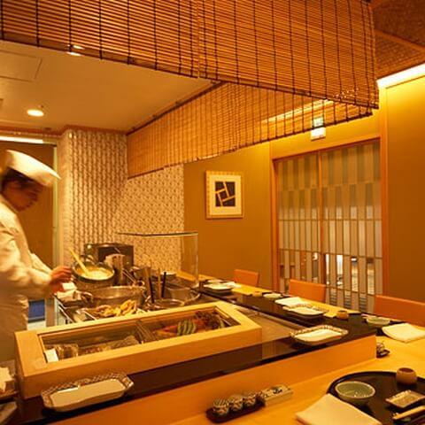 浜松町 ディナー 和食 天ぷら 天芝 カウンター