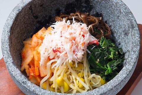 東京 新宿 焼肉食べ放題 六歌仙 ビビンバ