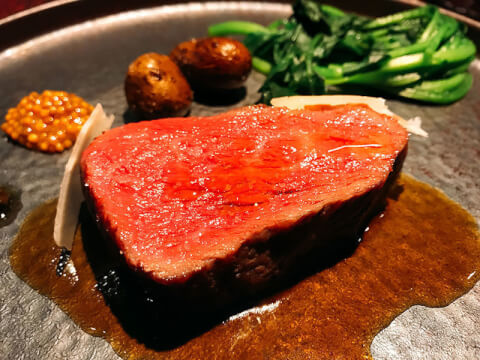 メイン トムクリオーザ 梅田 ディナー 北新地 堂島 イタリアン 肉