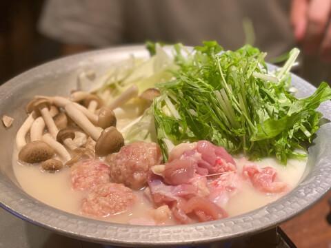 中野 居酒屋 とりいちず 水炊き鍋