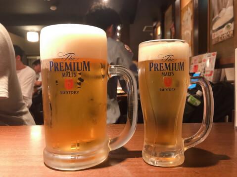 武蔵小杉 居酒屋 とりいちず ビール