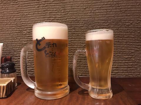 渋谷 居酒屋 とりいちず 生ビール