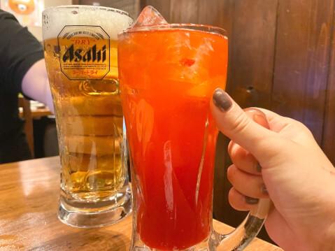 京橋 鳥メロ ビール 鳥メロハイボール