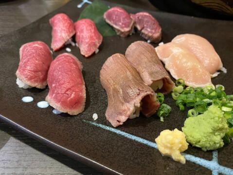 新橋 居酒屋 トロ函 肉寿司
