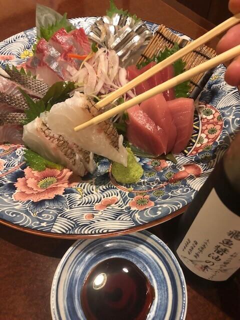 新橋 居酒屋 つばき庵 鮮魚盛り