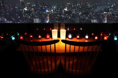 ちょうつがひ 阪急グランドビル店 梅田 ディナー 芝田 茶屋町 おすすめ 夜景