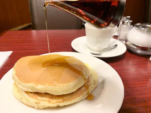 ホットケーキ 喫茶サンシャイン 梅田 東通り お初天神 おすすめ モーニング