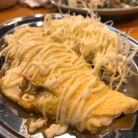 飯田橋 安い 居酒屋 おすすめ 魚竹 牛スジオムレツ