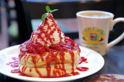 表参道 おすすめ カフェ urth_cafe パンケーキ