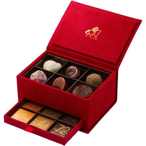 GODIVA グランプレス レッド バレンタイン チョコレート 本命チョコ