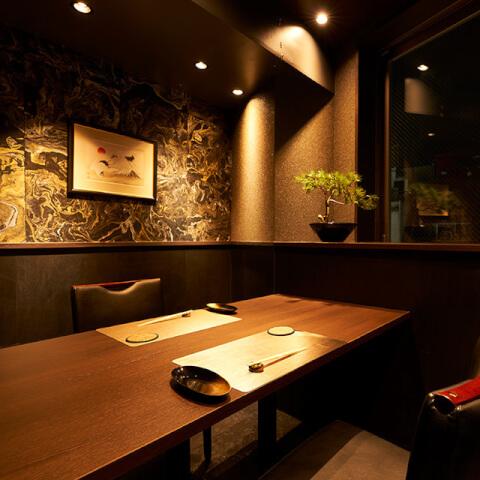 新宿 寿司 栞庵 やましろ 肉の心 個室 おすすめ デート 接待