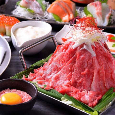 名古屋 居酒屋 名駅 松阪豚と松阪牛の合わせ肉炊き 竹庭ともり
