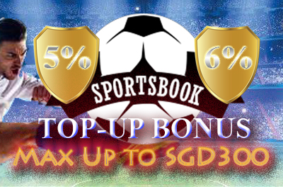5% and 6% Sportsbook Top-Up Bonus