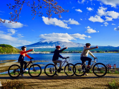 山梨県 富士河口湖町 富士山の麓 河口湖周遊サイクリングツアー☆