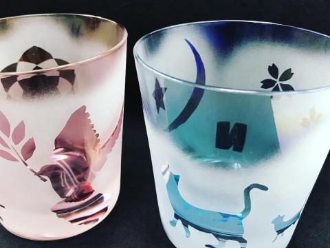東京都 台東区 浅草橋 魔法のガラス工芸体験・サンドブラストでオリジナルグラス作ってみよう☆
