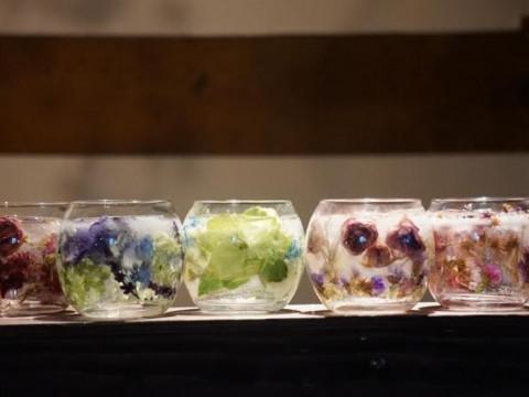 北海道 函館市 ジェルランタン制作体験 ☆ お好きなドライフラワーを選んで ♪ 世界にひとつだけのキャンドルを