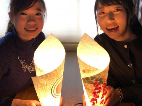 京都府 京都市上京区 【2人様以上】和紙照明作り、やさしく灯る和紙あかり手作り体験ライトコース/京都観光に便利な立地