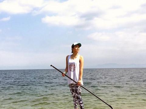 滋賀県 大津市 びわ湖でSUP体験! 琵琶湖八景の雄松崎へクルージング☆