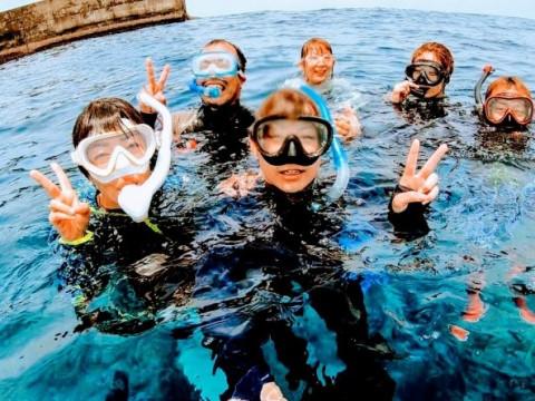 鹿児島県 沖永良部島 ウミガメ遭遇率99%! 秘密のポイントでウミガメと一緒に泳ぐ! シュノーケリングツアー