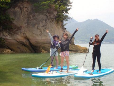 愛媛県 生名島 初心者体験コース! 1日SUP体験・無人島の自然のトンネル探検に出かけよう♪
