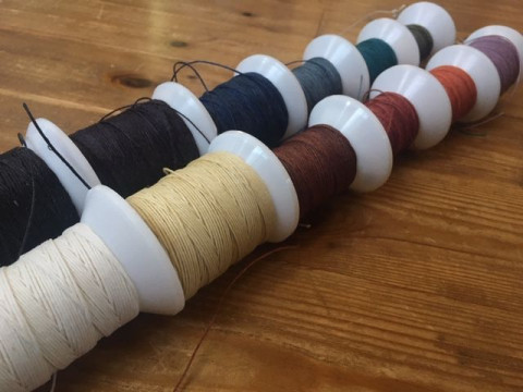 山梨県 富士吉田市 牛革 ☆ 手縫いのポケットティッシュケース作り体験 ♪