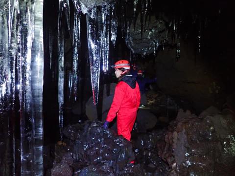 山梨県 鳴沢村 神秘の森 青木ヶ原の樹海と氷の洞窟探検ツアー ☆ 体験中の写真をプレゼント!