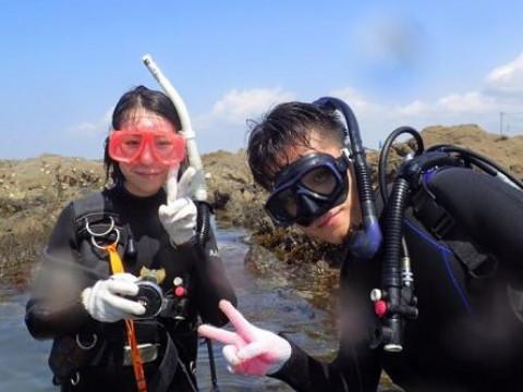神奈川県 葉山町 ライセンス保有者向け ☆ 冬もドライスーツでお試し快適ダイビング!
