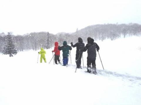 群馬県 みなかみ町 【平日・7名様以上限定】 スノーシュー半日体験 ☆  雪の中を思いっきり歩こう!