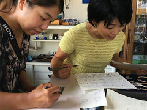 千葉県 館山市 シルバーアクセサリー手造り体験 ☆ Cコース・本格的な彫金技法でリング造りを楽しみましょう