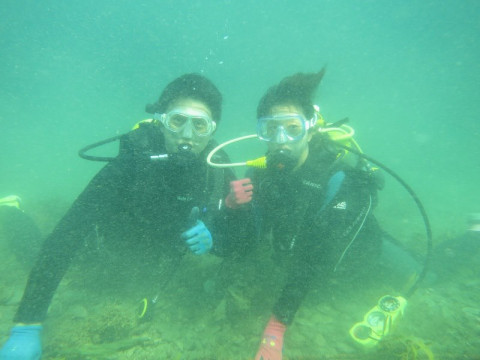 千葉県 勝浦市 2ボートダイビングへGO! ☆ 非日常の水中世界を満喫しよう!