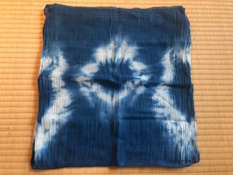 茨城県 常総市 友禅染体験 ☆ 藍染バンダナ作り! 柔らか素材の綿100%!お子様連れの方にもお楽しみ頂けます ♪