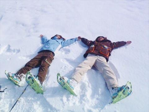群馬県 みなかみ町 【平日・4~6名様限定】 スノーシュー半日体験 ☆  雪の中を思いっきり歩こう!
