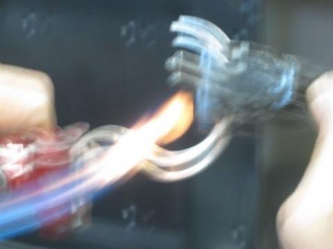 千葉県 館山市【シルバーアクセサリー手造り体験】☆ Bコース・ひねりの効いたバングル造り♪