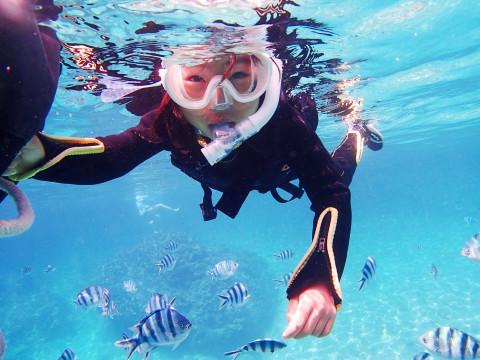 【3歳~】【地域共通クーポン】『熱帯魚と青の洞窟シュノーケリング』