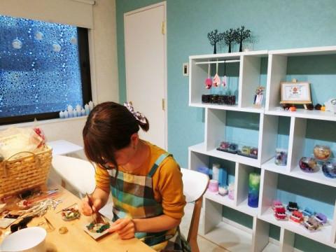 東京都 八王子市 押し花ジェルキャンドル2個制作体験 ☆ 灯すと美しい透明なキャンドル ♪