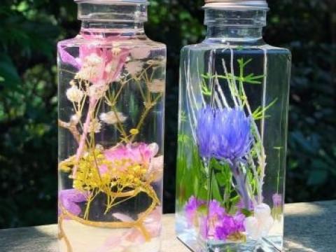 神奈川県 逗子市 【 土日専用 2人様から開催 】大人気!バーバリウム制作体験(1本) ☆ 植物・色・光を楽しむナチュラルインテリア♪