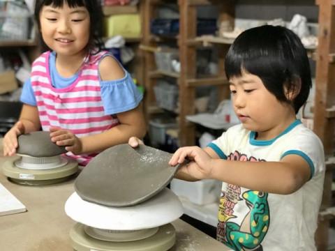 東京都 国立市 たたら成形 陶芸体験90分 ☆ 3歳から参加OK・お子様に大人気の陶芸プラン!
