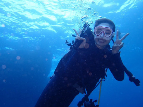 東京都 神津島 体験ダイビング ☆ 青い海でダイバーデビューしよう ♪ 機材レンタル料込みプラン