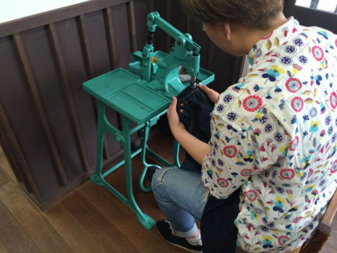 岡山県 倉敷市 ベティスミス・ジーンズ作り体験【 XL~XXLサイズ 】☆ジーンズ発祥の地である「児島」でストレートジーンズを作ろう ♪