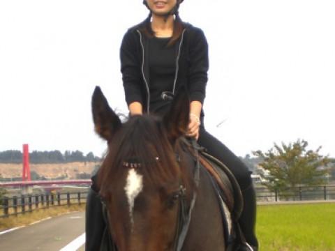 福井県 あわら市【乗馬体験】1日1組2人限定 ☆ 外乗り乗馬・ホーストレッキング30分 ♪ 馬との散歩をゆっくりと楽しもう!