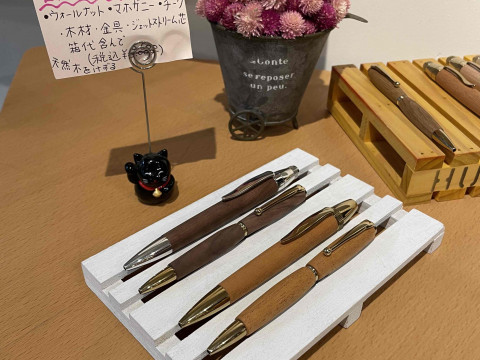 愛知県 瀬戸市【ハンドメイドボールペン作り体験(太軸)】☆ 自分だけの木ののボールペンを作りましょう!